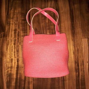 TALBOTS NWT PINK Lined Shoulder Purse Dual Straps